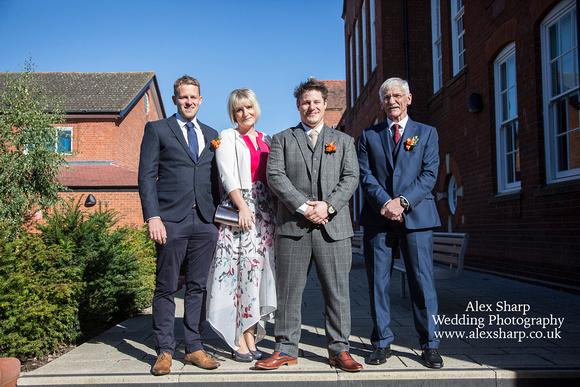 Bromsgrove registry office wedding photographer Alex Sharp