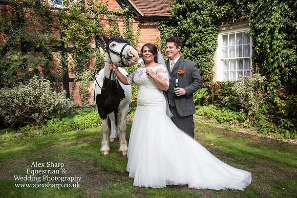 Equestrian wedding photographer